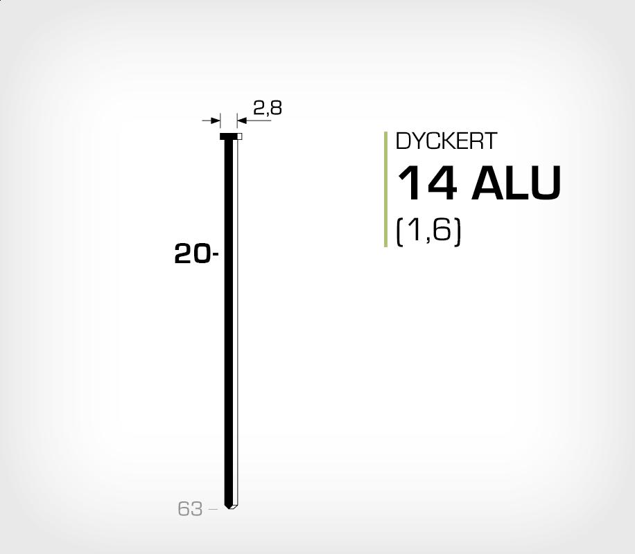 Dyckert 14/20 Aluminium (SKN 16-20 ALU)