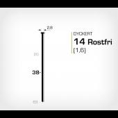 Rostfri dyckert 14/38 SS (SKN 16-38 SS)