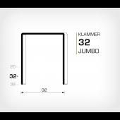 Klammer 32/32 Jumbo - För trippelwell
