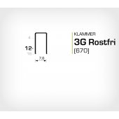 Klammer 3G/12 SS Rostfri (670-12 SS)