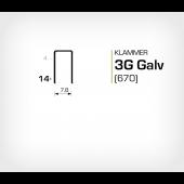 Klammer 3G/14 Elförzinkad Galv (670-14)